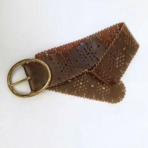 Liz Claiborne Wide Leather Belt   Size M